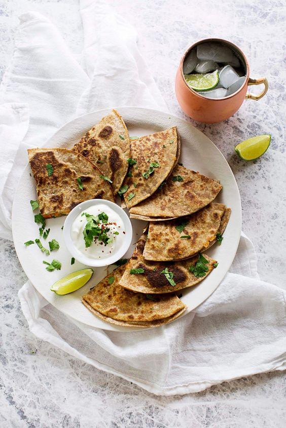 Sweet Potato and Kale Quesadillas | A Beautiful Mess | Bloglovin'