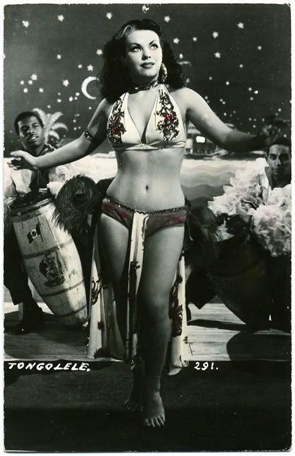 "YOLANDA ""TONGOLELE"" MONTES Burlesque dancer"