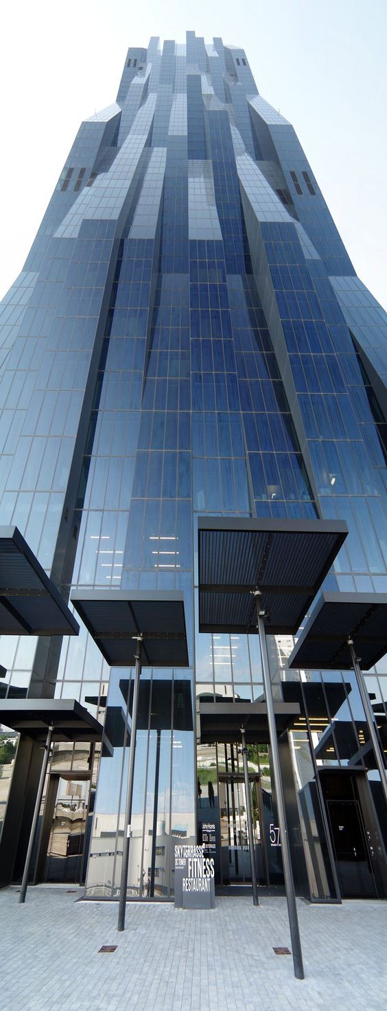 Vienna DC Towers in Vienna, Austria, by Dominique Perrault Architecture