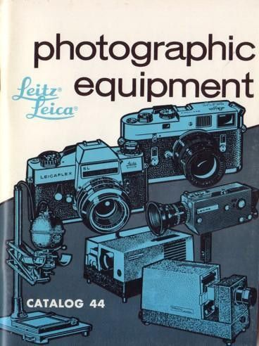 1971 Leitz Leica Photographic Equipment Catalog No. 44 Cameras Acc.s