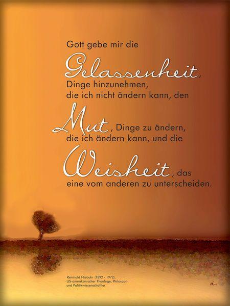 'Gebet der Gelassenheit' von Dirk h. Wendt bei artflakes.com als Poster oder Kunstdruck $19.41