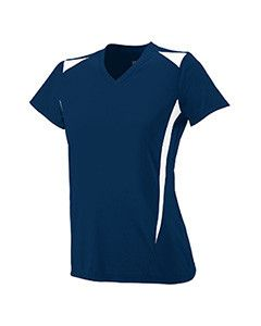 Augusta Ladies' Premier Crew 1055 NAVY/WHITE