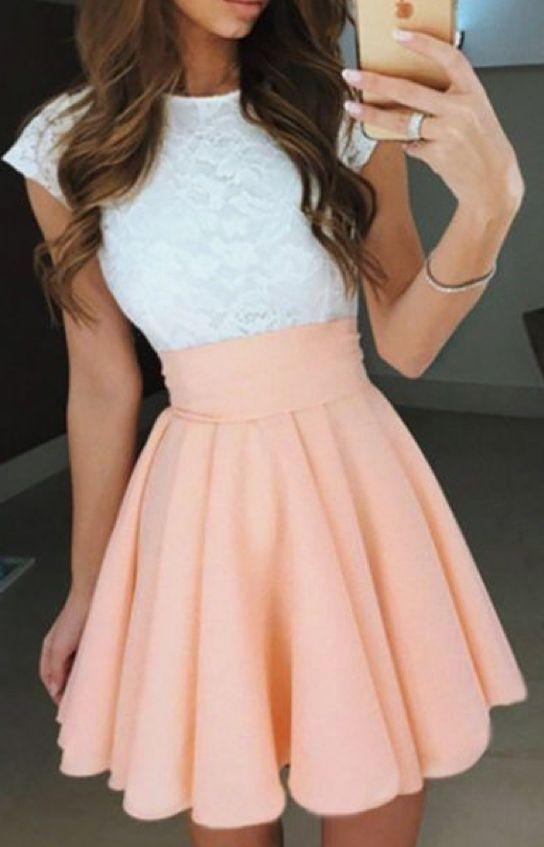 brxkensavvi) #girl #tumblr #cute Short prom dresses