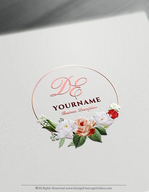 Create Vintage Rose Logo Design Free Logo Design Templates Flower Logo Design Logo Design Free Logo Design Free Templates