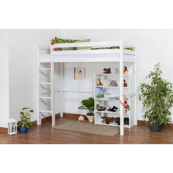 Children's bed / Loft Bunk bed Dominik solid beech wood, in a ...
