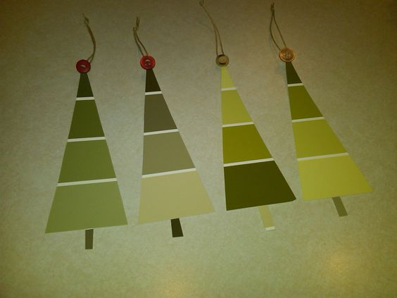 Paint swatch gift tags.