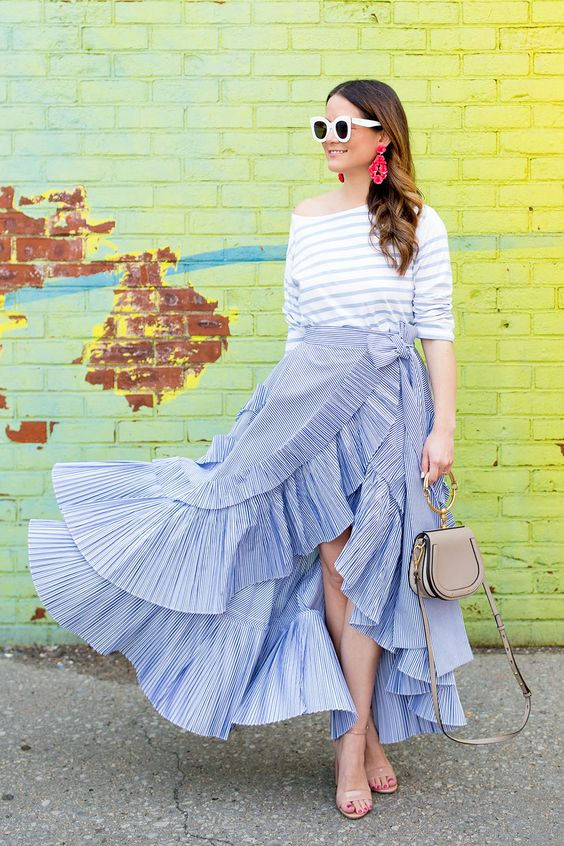 J Crew Spring 2017 Ruffle Skirt