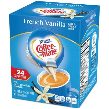 4 Pack Coffee Mate French Vanilla Liquid Coffee Creamer 24