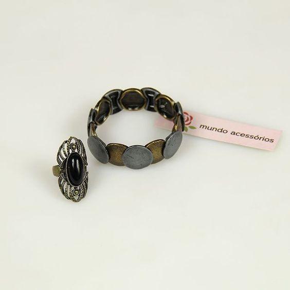 Perfeito para compor o seu look! Encontre em nossa loja #pulseira #anel  #bijoux…