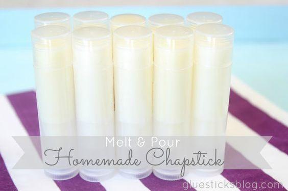 homemade melt pour chapstick gluesticks homemade products