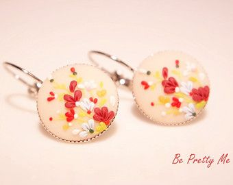 Little dreamer. Polymer clay dangle earrings