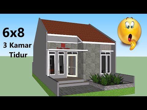 Rumah Minimalis - 3 Kamar Tidur - Ukuran 6x8 - YouTube di 2020 | Rumah  minimalis, Rumah, Ide dekorasi