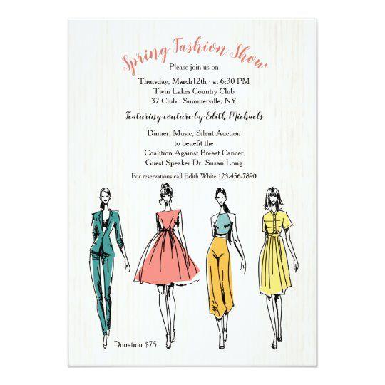 Fashion Model Fashion Show Invitation Zazzle Com Fashion Show Invitation Fashion Show Poster Fashion Invitation