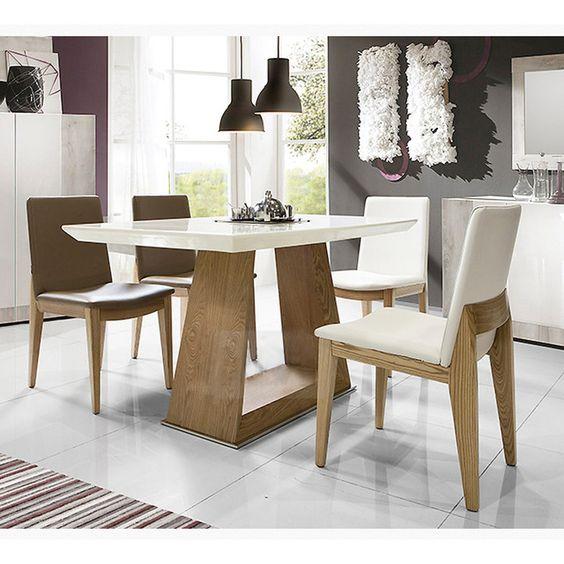 Nordic rectangular peque o apartamento minimalista de for Mesas de marmol para comedor