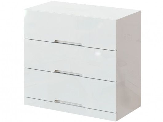 commode 3 tiroirs claire mdf laque