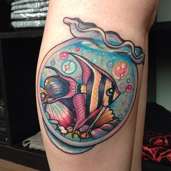 Not A Fan Of Fish Or Ocean. Tattoos... This One Is