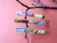 Wendylynn's Paper Whims: How to make a Paper Bead Bobby Pin - Paper craft tutorial