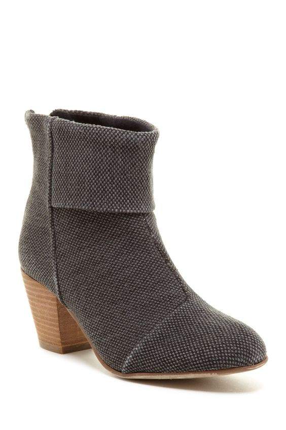 Textured Ankle Boots