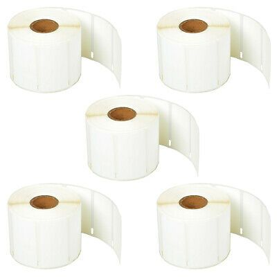 5Roll of 400 Rat Tail Jewelry Pricetag Labels for Dymo LabelWriter 30373 450 Duo