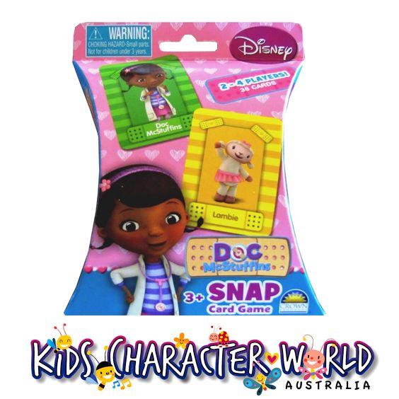 Doc McStuffins Snap Card Game $7.95 (eBay Store: kidscharacterworld2013 email: kidscharacterworld@live.com.au) http://www.ebay.com.au/itm/Doc-McStuffins-SNAP-Card-Game-CROWN-New-Kids-Girls-Licensed-BNIB-/171377210663?