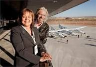 NM Governor Susana Martinez and Virgin CEO Richard Branson at Spaceport America near Truth or Consequeces, NM.    Very proud this has been built in my native state and my late Uncle would also be very happy with this as he worked at White Sands Missile Range for years.