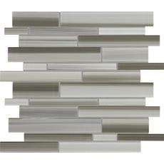 Tribeca Mist Strip Glass Mosaic