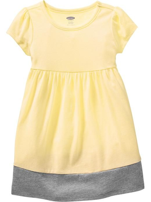Color-Block Jersey Dresses for Baby Product Image