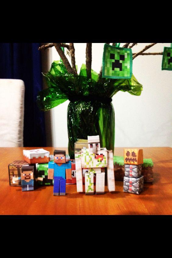 Minecraft decorations, birthday party