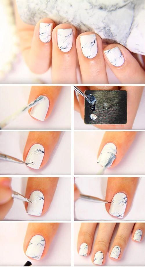 How To Do Marble Nails Without Water 16 Marble Nail Ideas You Will Marblenails How To Do Marbl Marble Nails Tutorial Marble Nail Designs Marble Nails Diy
