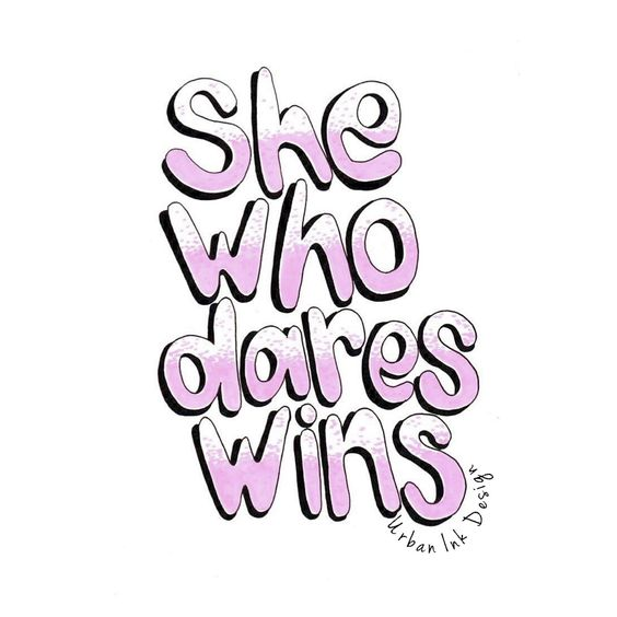 www.nothingbutvintage.com.au | Urban Ink Design Typography Quote : She Who Dares Wins