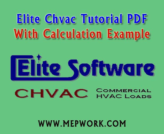 Elite Chvac Tutorial Pdf With Calculation Example Tutorial