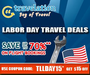 Exclusive Labor Day Flight Deals! Get $15 Off with Coupon Code TLLDAY15. Book Now