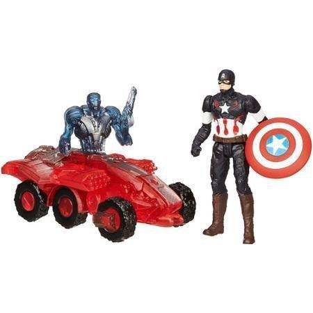 Marvel Avengers Age of Ultron Captain America Vs. Sub-Ultron 002 Figure Pack - Captain America figur @ niftywarehouse.com #NiftyWarehouse #Avengers #Movies #TheAvengers #Movie #ComicBooks #Marvel