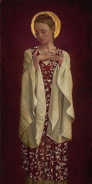 "Saint With White Sleeves  by James C. Christensen   LIMITED EDITION CANVAS  Image size: 10""w x 21""h  ©James Christensen  http://www.greenwichworkshop.com/details/default.asp?p=2270=16=4=artist:"