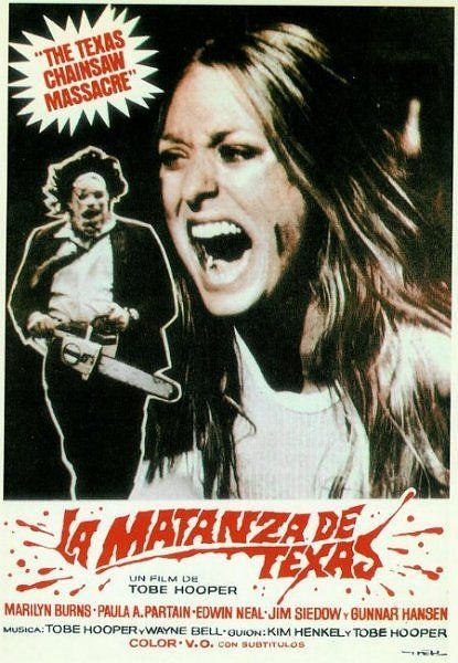 """The Texas Chainsaaw Massacre"", Spanish poster..."