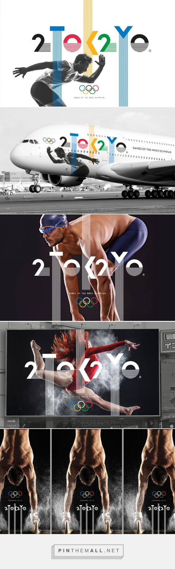 Dynamic and interesting #logo identity for the Tokyo 2020 Olympics which works beautifully with imagery and scope for #animation #Design