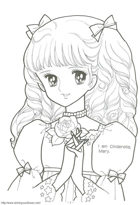 Http Shining Sunflower Com Colour Rain Color010 P001 Jpg Coloring Princess Anime