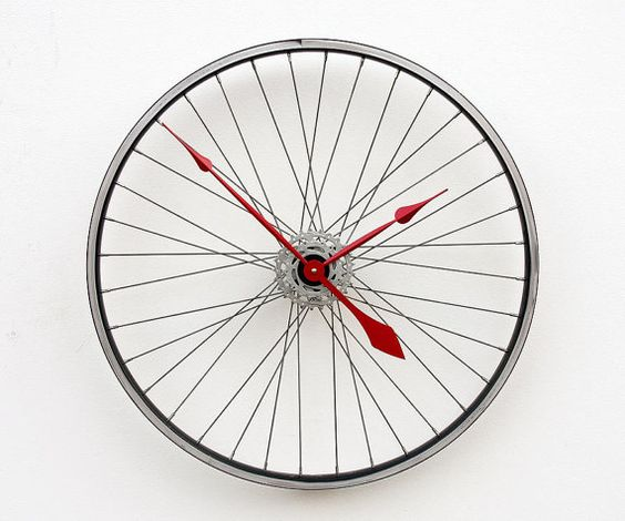 bicycle wall clock on ETSY