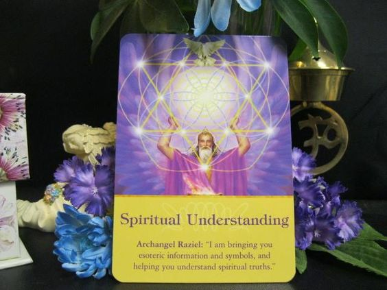 """Today's daily reading came from the deck, """"Archangels Oracle Cards."""" The card that came up is """"Spiritual Understanding - Archangel Raziel: I am bringing you esoteric information and symbols, and helping you understand spiritual truth.""""  Today Archangel Raziel is telling us that he is sending us signs and symbols to help us understand the spiritual meaning of our lives. How many of us seem to feel lost or confused about... To read more:  https://spiritualblessings.guru/?p=784"""
