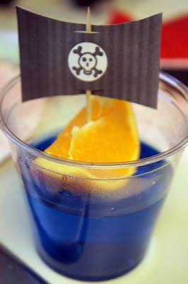 {Orange Slice Pirate Ship Jello Cups} For Pirate Day! Yarr!