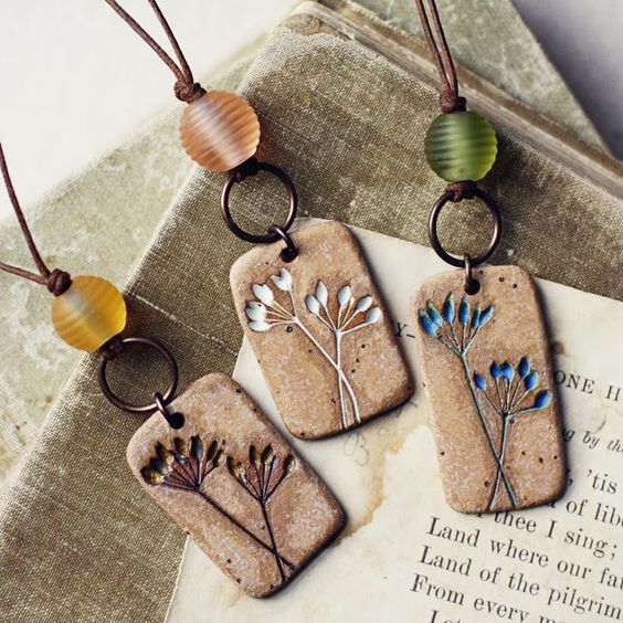idea. add glass to clay pendants. kylie parry studios Not sure whether this is polymer, but it's great polymer inspiration!