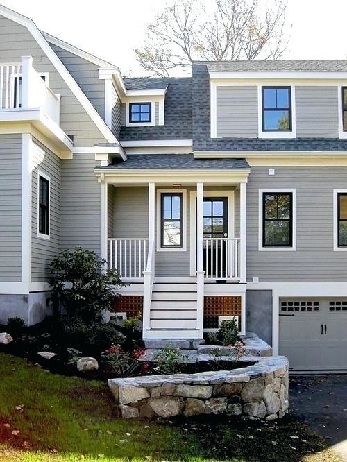 Grey Houses With White Trim Black Windows With White Trim Interior House Trim Ideas Pictures Remodel And Gray House Exterior House Exterior Black Window Trims