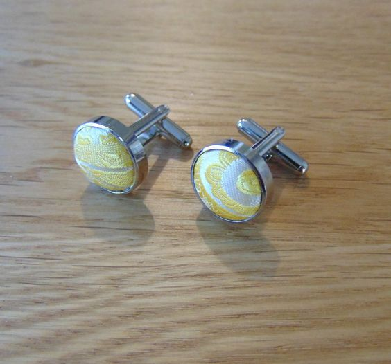 Paisley Silver Plated Cufflinks Gold