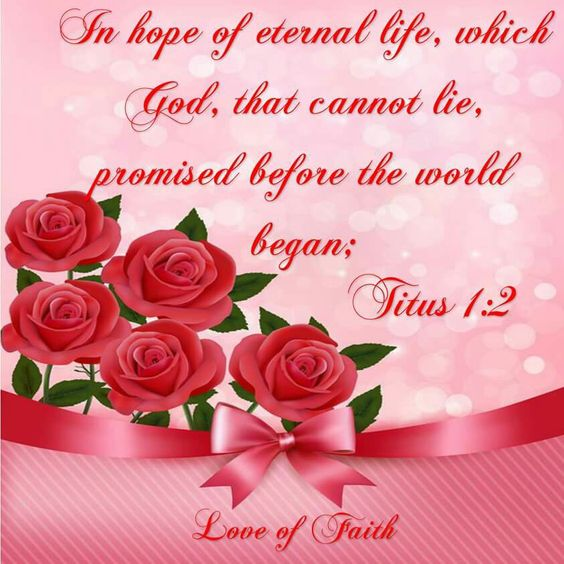 Titus  1:2 KJV