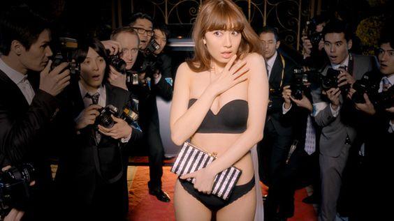 Japanese pop idle: Haruna Kojima      AKB48小嶋陽菜 ピーチ・ジョンのメインキャラクターに抜擢 | Fashionsnap.com