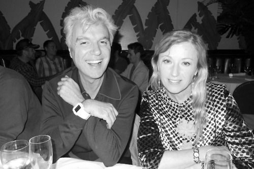 David Byrne and Cindy Sherman at Indochine. Photo by Terry Richardson