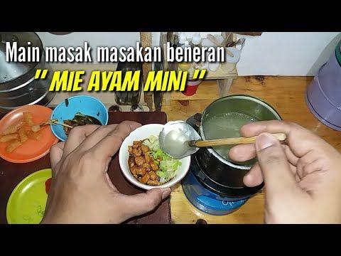 Tiny Cooking Mini Mie Ayam Main Masak Masakan Beneran Mie Ayam Youtube Masakan Makanan Wajan