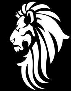 Clip Art Lion Head Clipart black white lion head clip art vector online royalty free