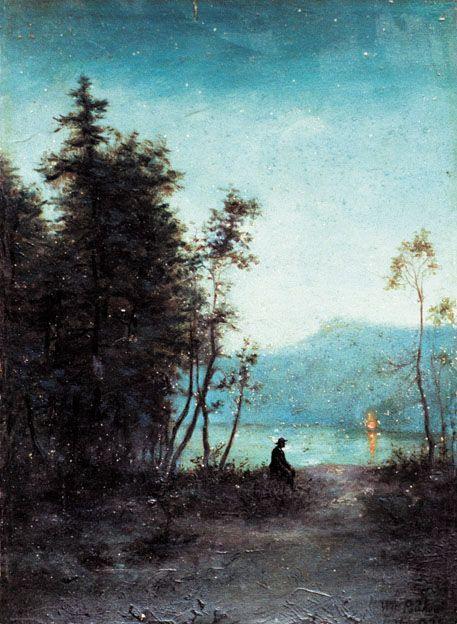 Władysław Podkowiński 1886 -1895. Evening (Wieczór):