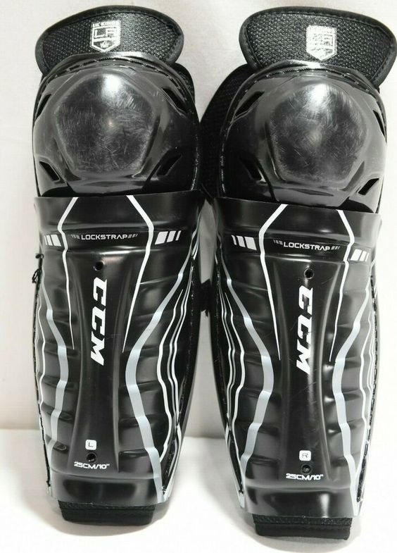 Advertisement Ebay Ccm Youth Shin Guards 10 Elbow Pad Size Youth Large Lil Kings La Kings Black Black Youth